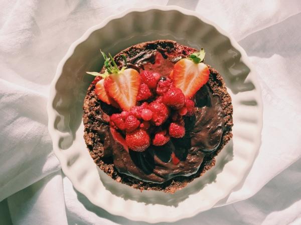 gâteau sans gluten chocolat sans sucre