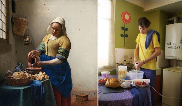 image Photoshop dans la cuisine