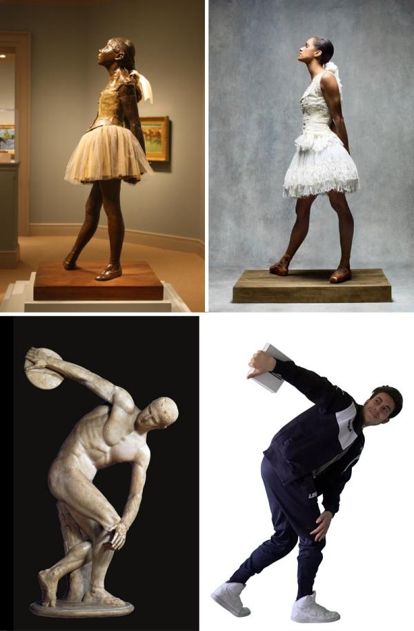 image Photoshop sculptures célèbres