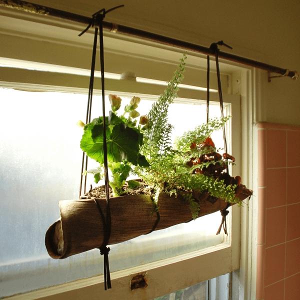 jardinière suspendue bricolage accrochée au tringle
