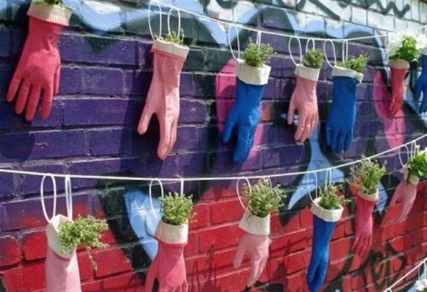 jardinière suspendue bricolage accrocher à des cordes