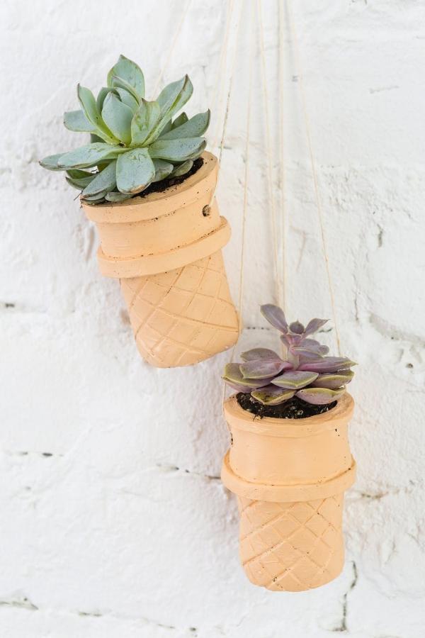jardinière suspendue bricolage des formes en plâtre