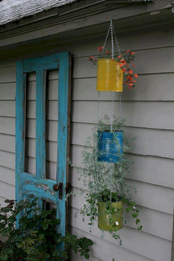 jardinière suspendue bricolage en tant que pots