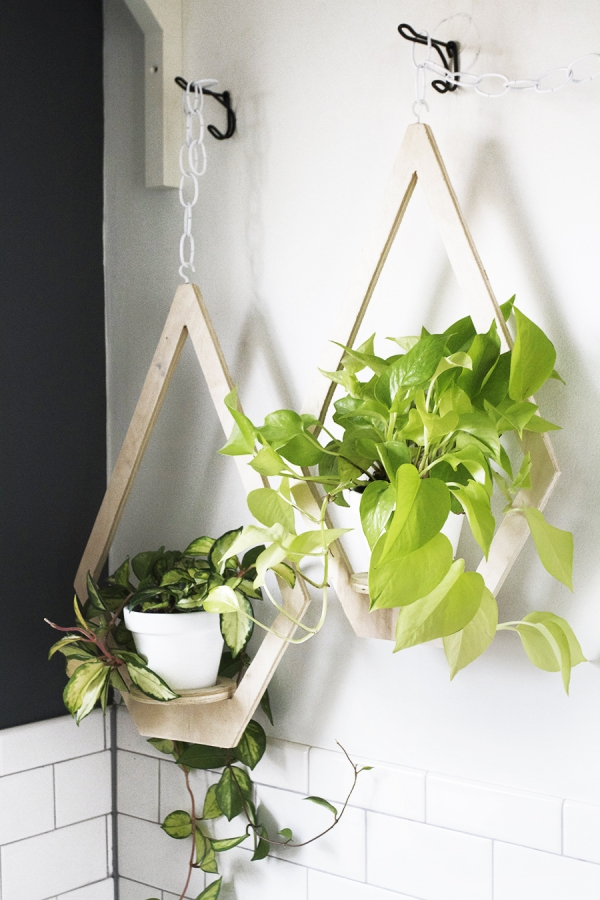 jardinière suspendue bricolage forme intéressante