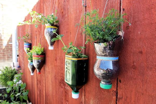 jardinière suspendue bricolage sur des crochets