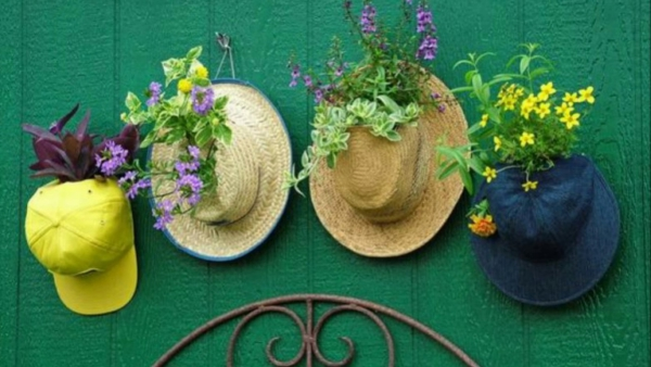 jardinière suspendue bricolage une image vintage