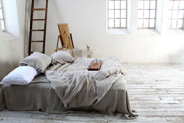 linge de lit en lin lavé idée