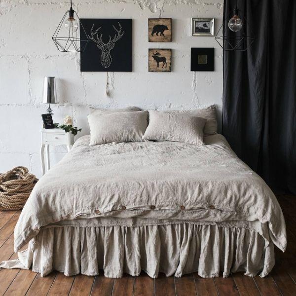 linge de lit en lin lavé pour la saison estivale