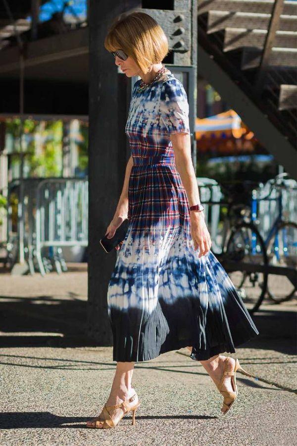 look élégant robe imprimé tie and dye maison