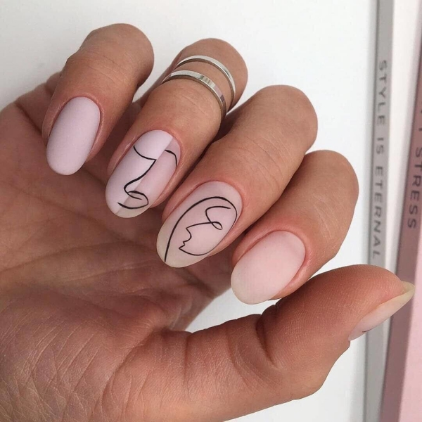 manucure stylée tendance lignes fines