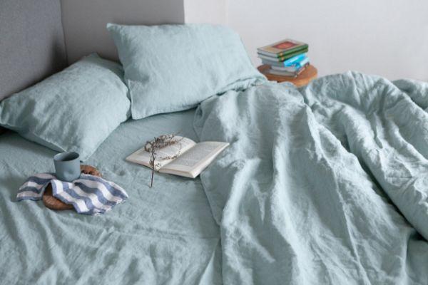 matière douce linge de lit en lin lavé