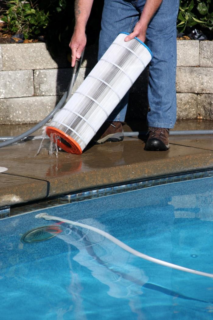 nettoyage fond de piscine nettoyer les filtres