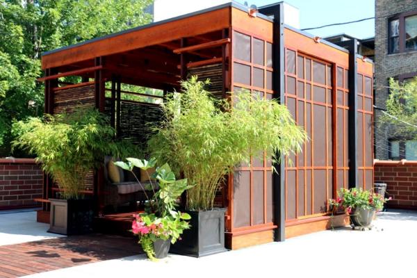 patio couvert comme un salon de thé