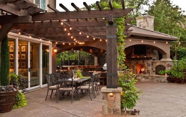 patio couvert un pavillon couvert permanent