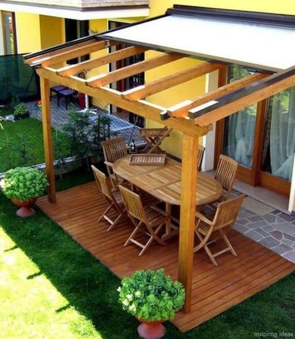 patio couvert un revêtement extérieur rétractable