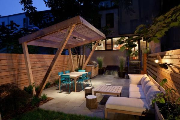 patio couvert une dalle de béton