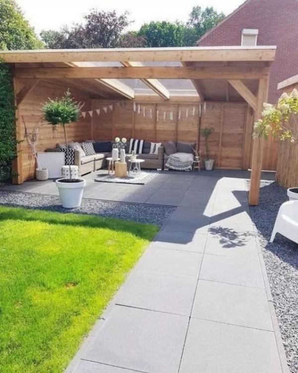 patio couvert une partie ouverte