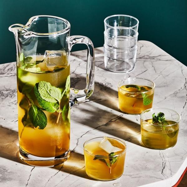 recette thé à la menthe cogner les feuilles avec le dos de la cuillère