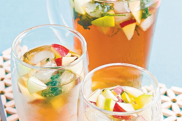recette thé à la menthe des glaçons dedans