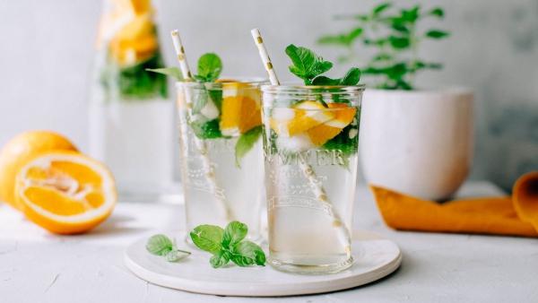 recette thé à la menthe morceaux d'orange