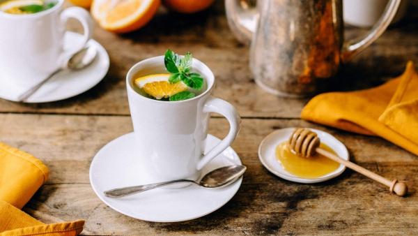 recette thé à la menthe orange ou citron