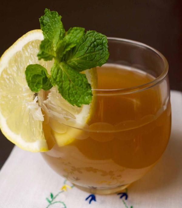 recette thé à la menthe une tranche de citron