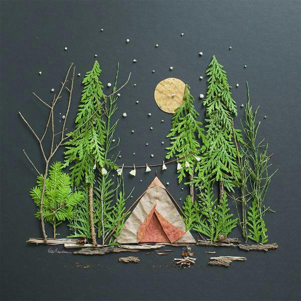 tableau vivant dans la forêt