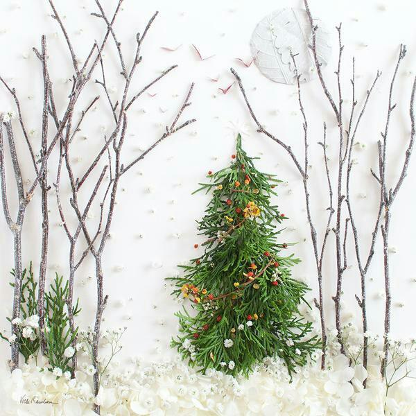 tableau vivant un arbre de Noël