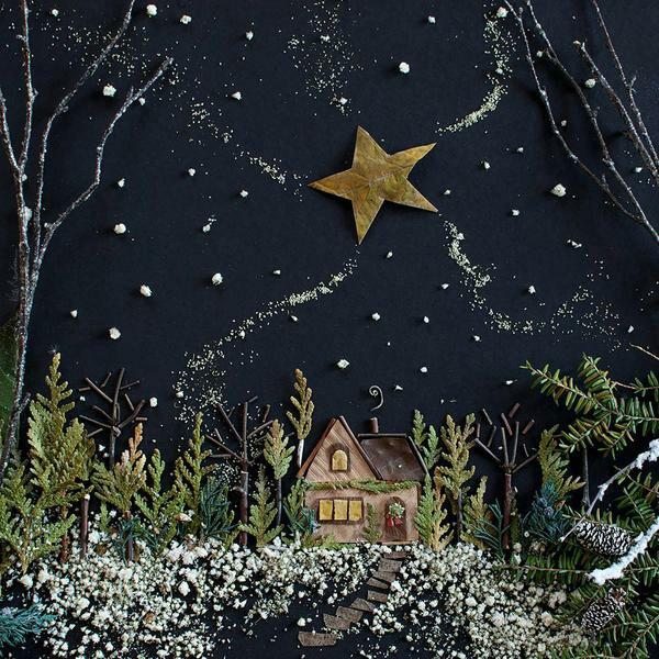 tableau vivant une carte de Noël