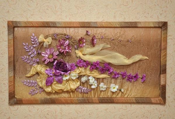 tableau vivant une couronne de fleurs