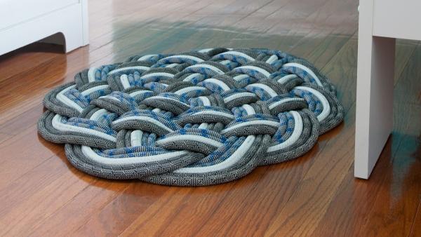 tapis en corde colorée à fabriquer