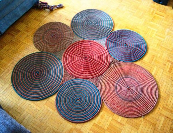 tapis en corde diy revêtement de sol salon