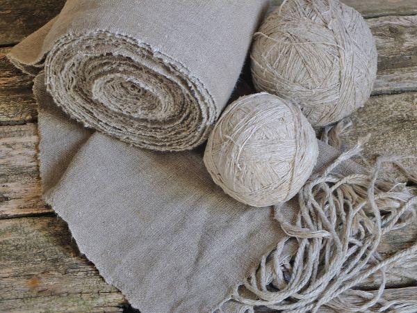 textile et pelote de lin linge de lit en lin lavé