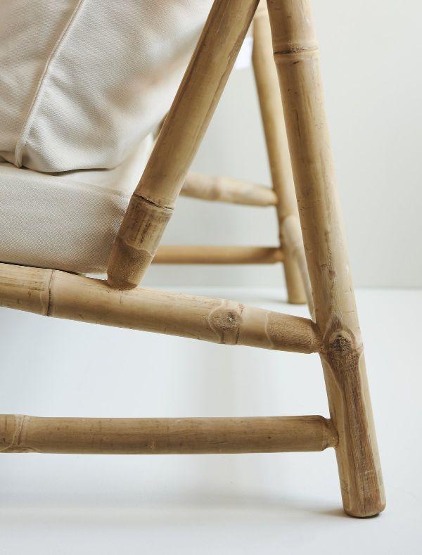 transat jardin modèle en bambou