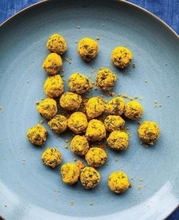 truffles au chocolat et pollen d'abeille