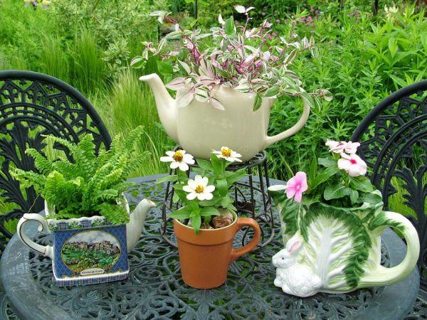 vaisselle ancienne pot de fleurs