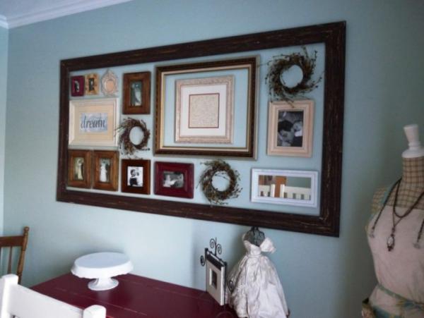 vieux cadre grand cadre de miroir
