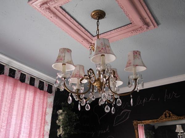 vieux cadre un cadre rose
