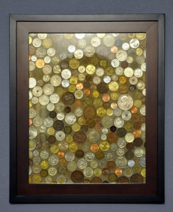 vieux cadre une collection de monnaies