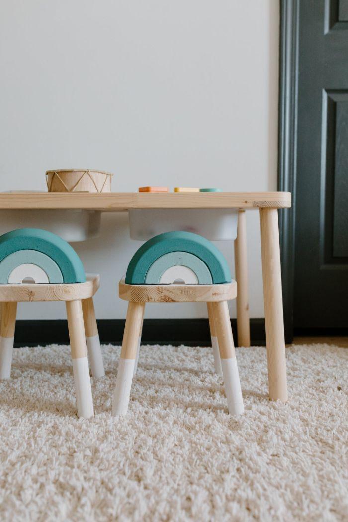 chambre enfant deco avec bois ecologique, idée comment aménager un intérieur durable